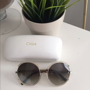 Chloe Isidora round wire trimmed sunglasses